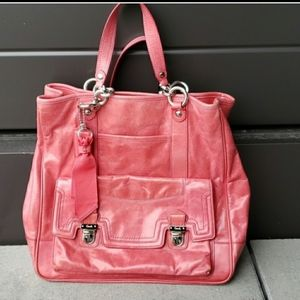 rare! coach salmon pink large bag